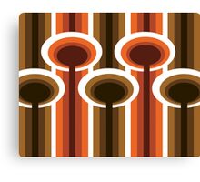 Retro Elements v 2.0 : Chocolate Orange Canvas Print