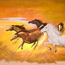 """Heavenly Horses"" by gunnelau"