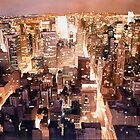 """Manhattan Tapestry"" New York Watercolor by Paul Jackson"