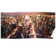 """Manhattan Tapestry"" New York Watercolor Poster"