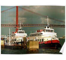 CACILHEIROS. river boat Poster