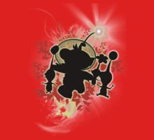 Super Smash Bros. Olimar Silhouette One Piece - Short Sleeve