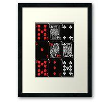 Poker Card (Black) Framed Print