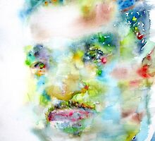 MARTIN LUTHER KING JR. - watercolor portrait by lautir