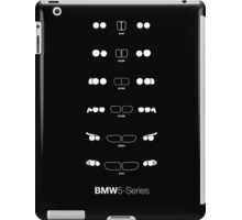 Bmw 5 Series heritage, 1972-Present day (E12, E28, E34, E39, E60, F10) Headlight and Kidney Grills iPad Case/Skin