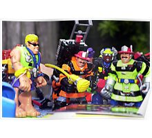 Toy firefighters Poster