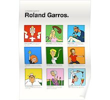 Roland Garros characters poster Poster
