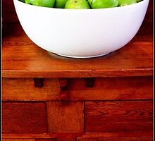 Apples in a white bowl by jmnowak