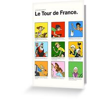 Tour de France characters poster Greeting Card