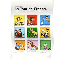 Tour de France characters poster Poster