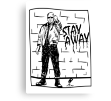 Skinhead Punk // STAY AWAY Canvas Print