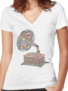 Seeing Sound Women's Fitted V-Neck T-Shirt