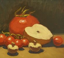 Red tomato still life by Greg Ferry