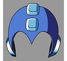 Mega Man Helmet Photographic Print