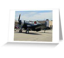 Military FG-1D Corsair Solo Aircraft Greeting Card