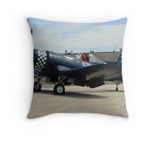 Military FG-1D Corsair Solo Aircraft Throw Pillow