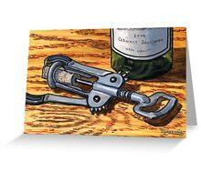Wine Opener Greeting Card