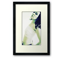 Well she said she'd stick around until the bandages came off.... Framed Print