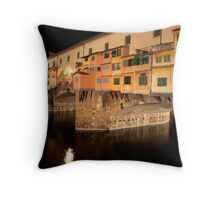 Ponte Vecchio: Night of the Coypu Throw Pillow