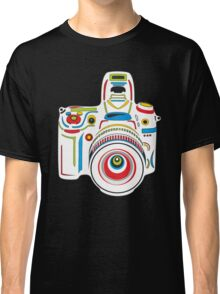 Rainbow Camera Black Background Classic T-Shirt