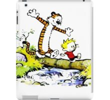 Calvin and hobbes Adventure Time iPad Case/Skin