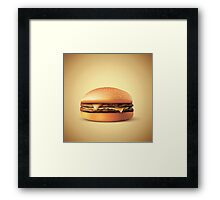 Cheeze!!! Burger Framed Print
