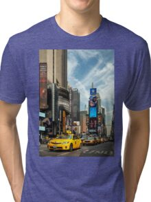 Yellow Taxi Times Square New York Tri-blend T-Shirt