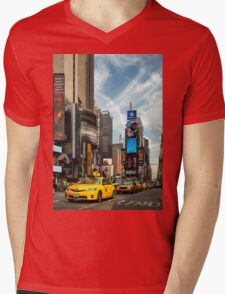 Yellow Taxi Times Square New York Mens V-Neck T-Shirt