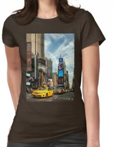Yellow Taxi Times Square New York Womens Fitted T-Shirt