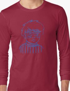 Moon Bright Glasses Girl Long Sleeve T-Shirt