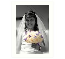 Bride with Flowers Art Print