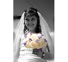 Bride with Flowers Photographic Print
