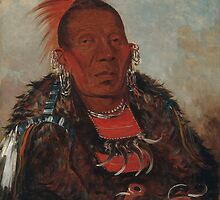 Wah-ro-née-sah (The Surrounder), an Otoe chief. Probably painted at Fort Leavenworth in 1832, by George Catlin by Adam Asar