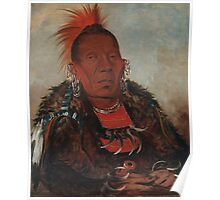 Wah-ro-née-sah (The Surrounder), an Otoe chief. Probably painted at Fort Leavenworth in 1832, by George Catlin Poster