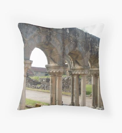 The terraces, Rievaulx Abbey Throw Pillow