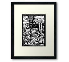 An empty house, a bridge and what lies beneath... Framed Print
