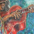 Red Guitar by Reynaldo