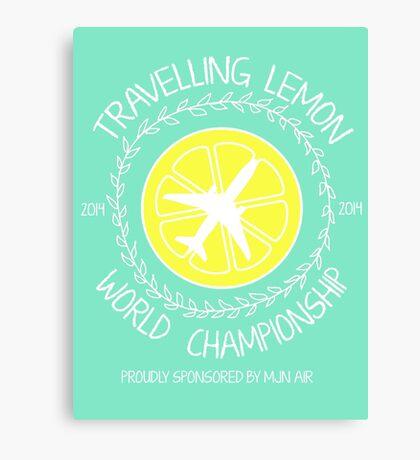 Travelling Lemon World Championship 2014 Canvas Print