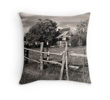 Post and Rail Throw Pillow