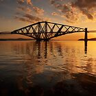 Forth Bridge Sunrise by David Queenan