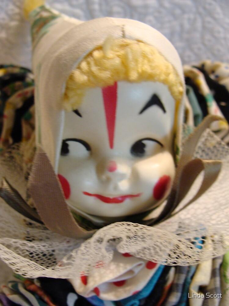 Little YoYo Clown Doll Close up by Linda Scott