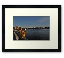 """View of Stockholm, Sweden - """"Venice of the north"""" Framed Print"""