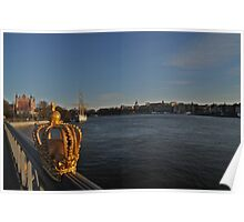 """View of Stockholm, Sweden - """"Venice of the north"""" Poster"""