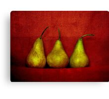 The Three Pears Canvas Print