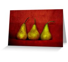 The Three Pears Greeting Card