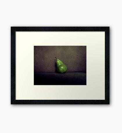 A Single Pear Framed Print