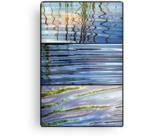 3 Minutes in The Ripple of Time - Triptych Metal Print