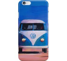 Blue White VW Surf Bus Bulli Surf Board iPhone Case/Skin