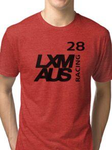 LXM Australia Racing #28 - Black Tri-blend T-Shirt