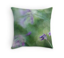 Crazy mad bokeh Throw Pillow